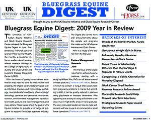 Bluegrass Equine Digest November 2009