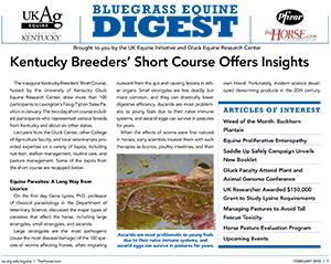 Bluegrass Equine Digest February 2010