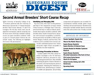 Bluegrass Equine Digest January 2011