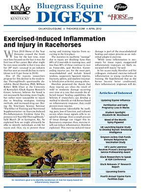Bluegrass Equine Digest April 2012