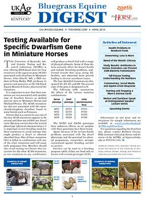 Bluegrass Equine Digest April 2014