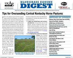 Bluegrass Equine Digest August 2011
