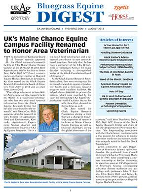 Bluegrass Equine Digest August 2013