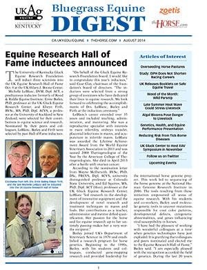 Bluegrass Equine Digest August 2014