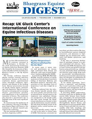 Bluegrass Equine Digest December 2012