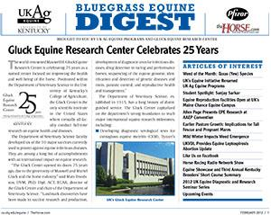 Bluegrass Equine Digest February 2012