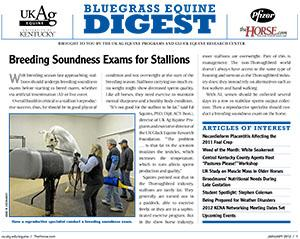 Bluegrass Equine Digest January 2012