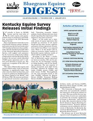 Bluegrass Equine Digest January 2013