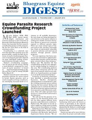 Bluegrass Equine Digest January 2014