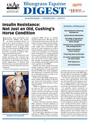 Bluegrass Equine Digest July 2013