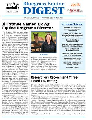 Bluegrass Equine Digest May 2013