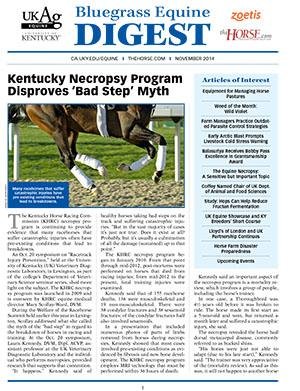 Bluegrass Equine Digest November 2014