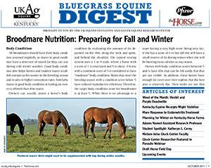 Bluegrass Equine Digest October 2011