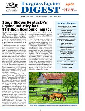 Bluegrass Equine Digest September 2013