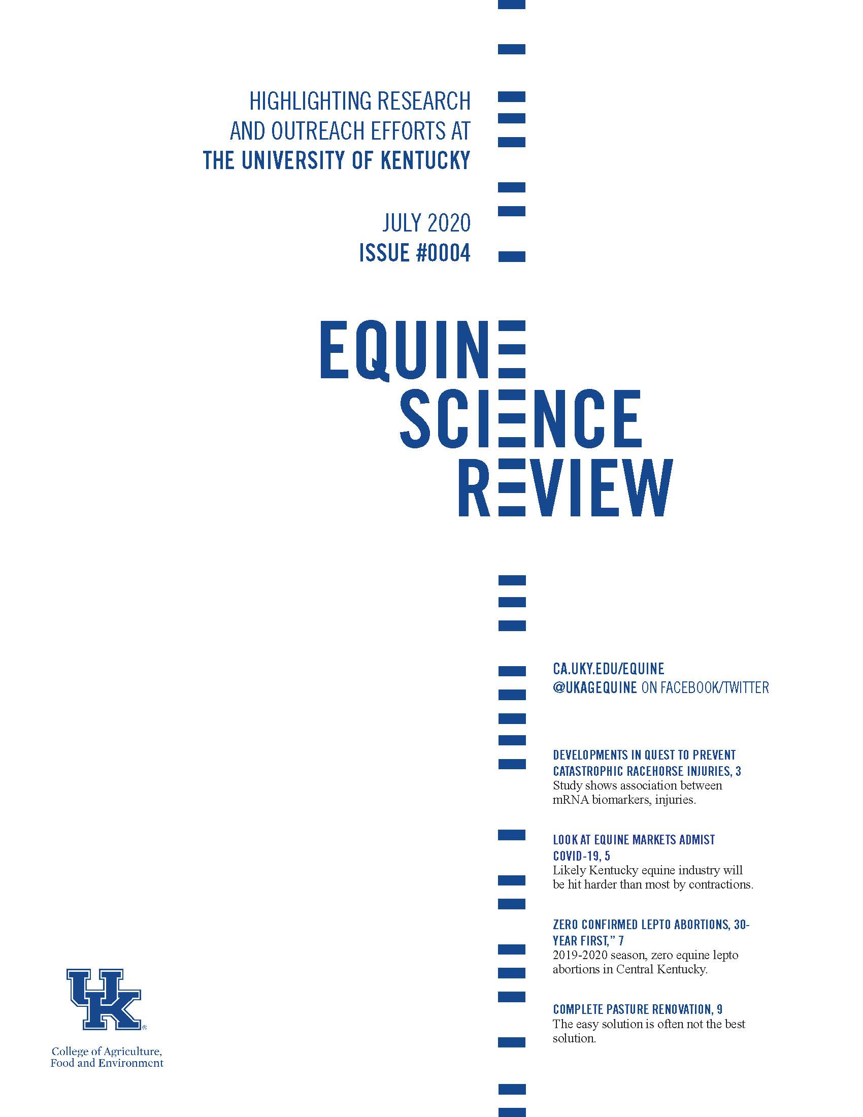cover of July 2020 Equine Science Review