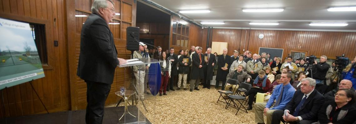 2007 press conference announcing the formation of Equine Initiative